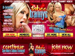 Welcome To The Worls Of Smokin` Hot Chicks With Massive Fucking Dicks! Taboo Trannys Provides You 100% Exclusive Hardcore Hi-def Tranny Video! Updated Daily!