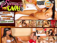 Welcome To Shemales For Cash, The Site That Shows That Everyone Has A Price… Even Shemales! Watch These Sexy Gender-bending Babes Getting Fucked For Pennies On The Dollar At Shemales For Cash!