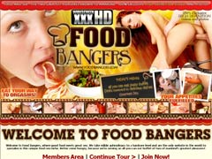 Welcome To Food Bangers, Where Good Food Meets Great Sex. We Are The Only Website In The World To Specialize In This Unique Food-sex Niche. Better Come Hungry, Because We`re Serving An All-you-can-eat Buffet Of Two Of Mankind`s Greatest Pleasures!